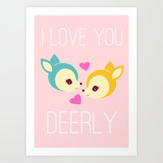 Deerly Art Print