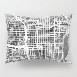 Chicago City Street Map Pillow Sham