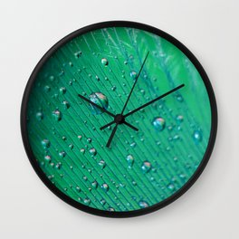 Emerald Feather Wall Clock
