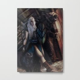 Lagertha Metal Print
