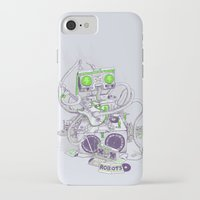 hippy iPhone & iPod Cases featuring Hippy robot by Mathijs Vissers