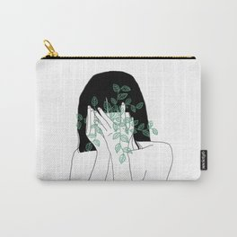 A little bit dissapointed in humanity / Illustration Carry-All Pouch