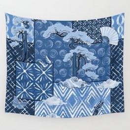 Shibori Quilt Wall Tapestry