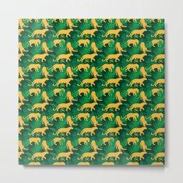 Lions pattern 3 Metal Print