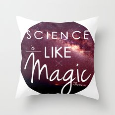 Science is Magic Throw Pillow