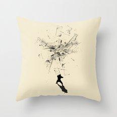 Ninja Moves Throw Pillow