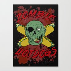 zombie hotdogs part deux Canvas Print