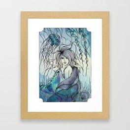 Watercolor Mermaid Framed Art Print