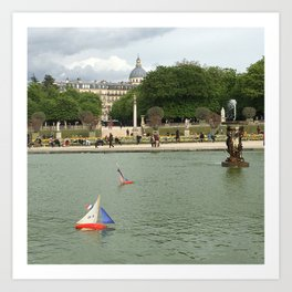Toys Boats in the Fountain Art Print