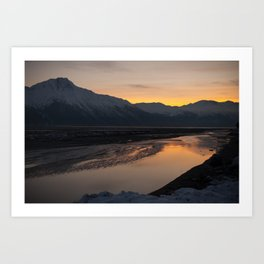 turnagain sunset Art Print