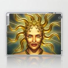 Beautiful golden sun goddess Laptop & iPad Skin
