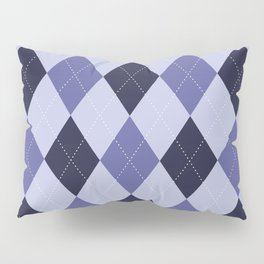 Blue Argyle Pattern Pillow Sham