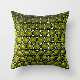 bottle tops pattern Throw Pillow