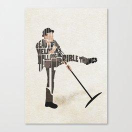 Typography Art of Tom Waits Canvas Print