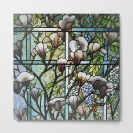 Louis Comfort Tiffany - Decorative stained glass 8. Metal Print