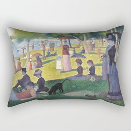 A Sunday on La Grande Jatte by Georges Seurat, 1884 Rectangular Pillow