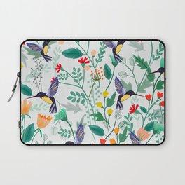 Hummingbirds and Summer Flowers Laptop Sleeve
