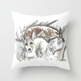 Dog Portrait Series - Charlie & Canon Throw Pillow