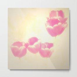 Hazy Pink Tulips Metal Print