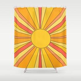 Sun rays Shower Curtain