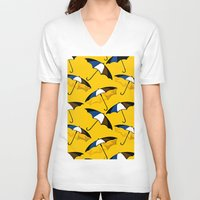 umbrella V-neck T-shirts featuring Umbrella  by Saundra Myles