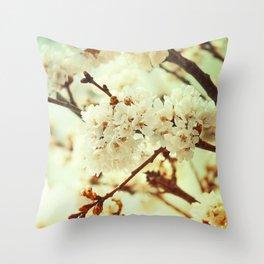Sakura Gold Throw Pillow