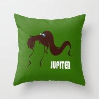 sailor jupiter Throw Pillows featuring Sailor Jupiter by Michi Donaho