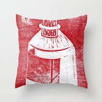 whisky Throw Pillows featuring Ol' Whisky Bottle by Shane Haarer