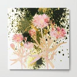flowers and splash Metal Print