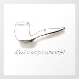 Ceci n'est pas une pipe Art Print