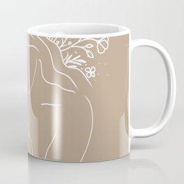 Mother & Baby - Floral Line Art 3 Coffee Mug