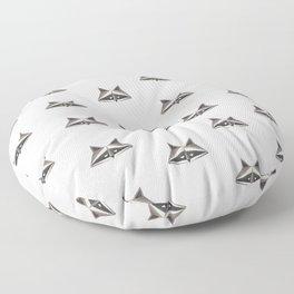 Raccoon Minimalist Pattern Floor Pillow