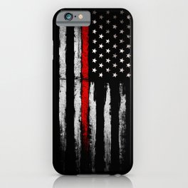 USA red line flag iPhone Case