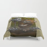 ewok Duvet Covers featuring Wicket by MrRevenge