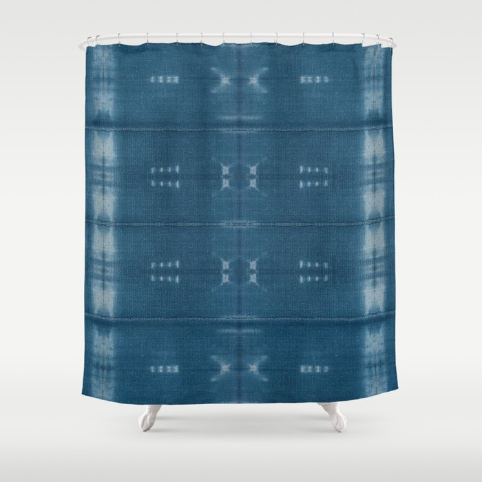Adire Mud Cloth Shower Curtain