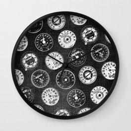 Dark Vintage Motorcycle Speedometers Wall Clock