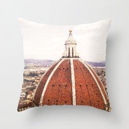 Duomo - Hazy, Florence Photography Throw Pillow