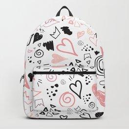 doodle heart Backpack