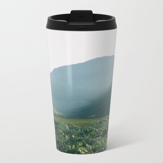 Sunburst in a field in Scotland - Landscape Photography Metal Travel Mug