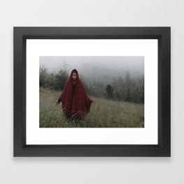 wolf bride Framed Art Print