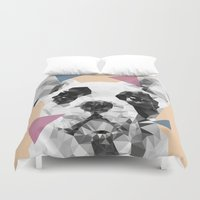 frenchie Duvet Covers featuring Frenchie by Esco