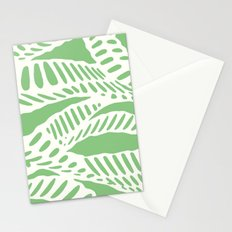 Al Peas: Ivory on Sage/Green Stationery Cards