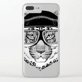 Leopard Speed Rebel Clear iPhone Case