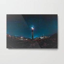 Oak Island Lighthouse Metal Print