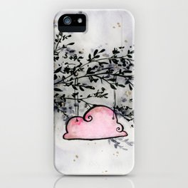 Pink Cloud dwelling in the Dark Forest iPhone Case