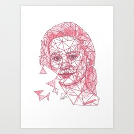 Brie Larson Fracture Drawing Art Print