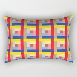 Sundial (Yellow, Red, Blue, Brown) Rectangular Pillow