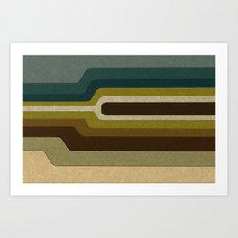 """Retro Lines"" Art Print"