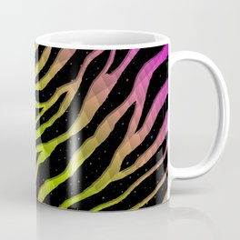 Ripped SpaceTime Stripes - Pink/Lime Coffee Mug