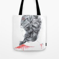 french Tote Bags featuring FRENCH  by FunnyTummy